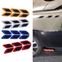 6pcs/Set Warning-Sticker Car-Reflective-Strips Truck Auto-Motor Anti-Scratch Safety