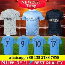 Qualidade tailandesa 2021 fc manchester casa camisa de futebol cidade sterling kun aguero debruyne g. Jesus camisa de futebol mendy homem unifo