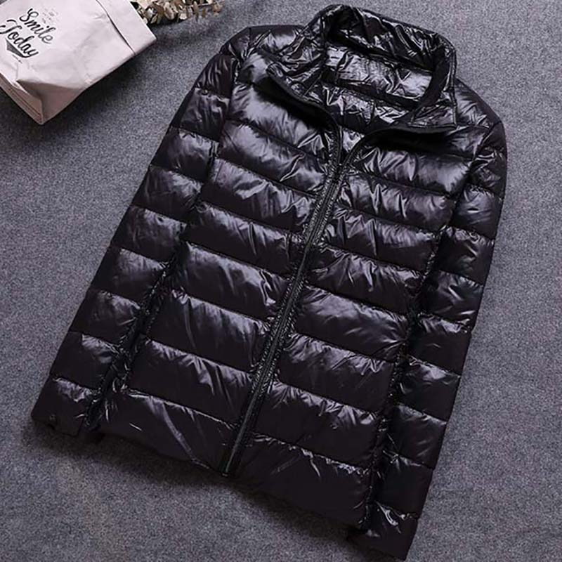 Plus Size 6XL Winter Down   Jacket   Women Outerwear Warm Coat Ultralight Large Size Black   Basic     Jacket   Female Parka Overcoat