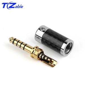 Image 2 - 1PCS Audio Connector 4.4mm 5 Pole Stereo Connectors Earphone Male Plug Headphone Jack Solder Cable Metal Splice Adapter