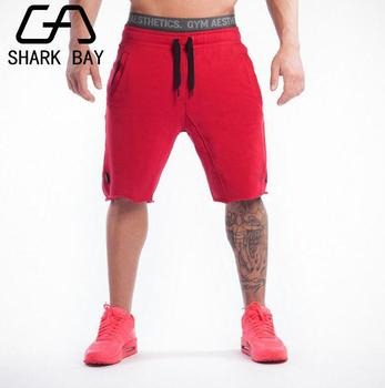 New Fashion Men Sporting Beaching Shorts Trousers Cotton Bodybuilding Sweatpants Fitness Short Jogger Casual Gyms