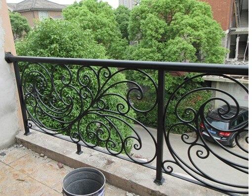 China Iron Company Fancy Steel Metal Aluminium Wrought Iron Balcony,iron Railing,iron Balustrades Design Hc-3
