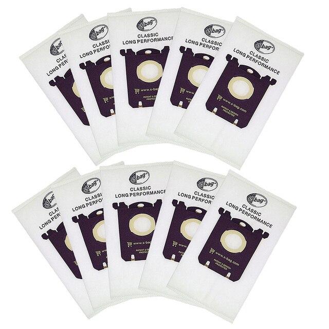 10 pçs/lote E201B para Philips FC8021 Poeira saco de poeira para Electrolux S saco Sacos s saco AEG FC9000 GR201 FC9049 HR8500 HR8350 FC9150