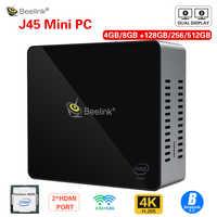 Beelink J45 8GB 128GB J4205 Genuine Windows10 Mini PC 128/256/512GB 2.4GHz+5.8GHz WiFi BT4.0 Support Netfix 4K H.265 fast charge