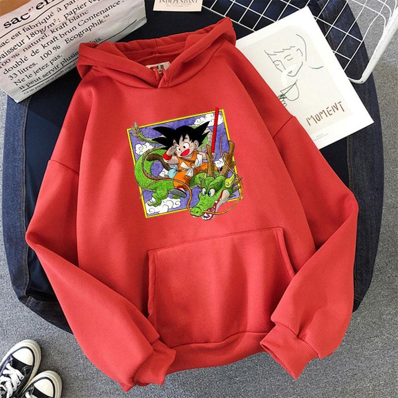 Japanese Anime Printed Hoodies 2021 Spring Autumn Long Sleeve Hoodie Women Cartoon Graphic Streetwear Sweatshirts Female Tops 22