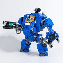 Crianças 1252 pçs moc redemptor dreadnought martelo 40000 robô homem ferro mecha blocos de construção série jogo bloco modelo brinquedos