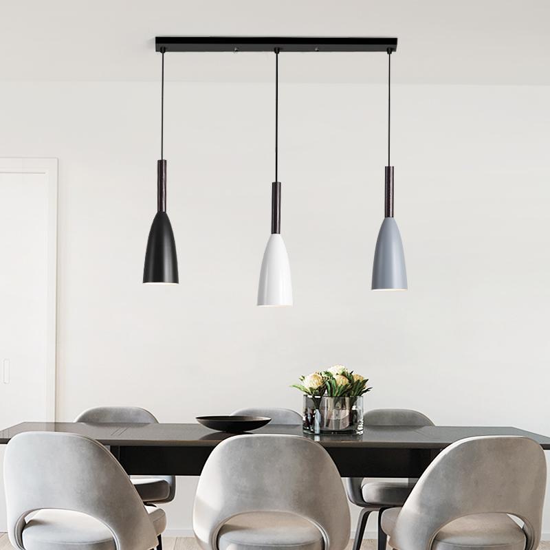 Moderne 3 Hanger Verlichting Nordic Minimalistische Hanglampen Over Eettafel keuken eiland opknoping lampen eetkamer lichten E27 - 6