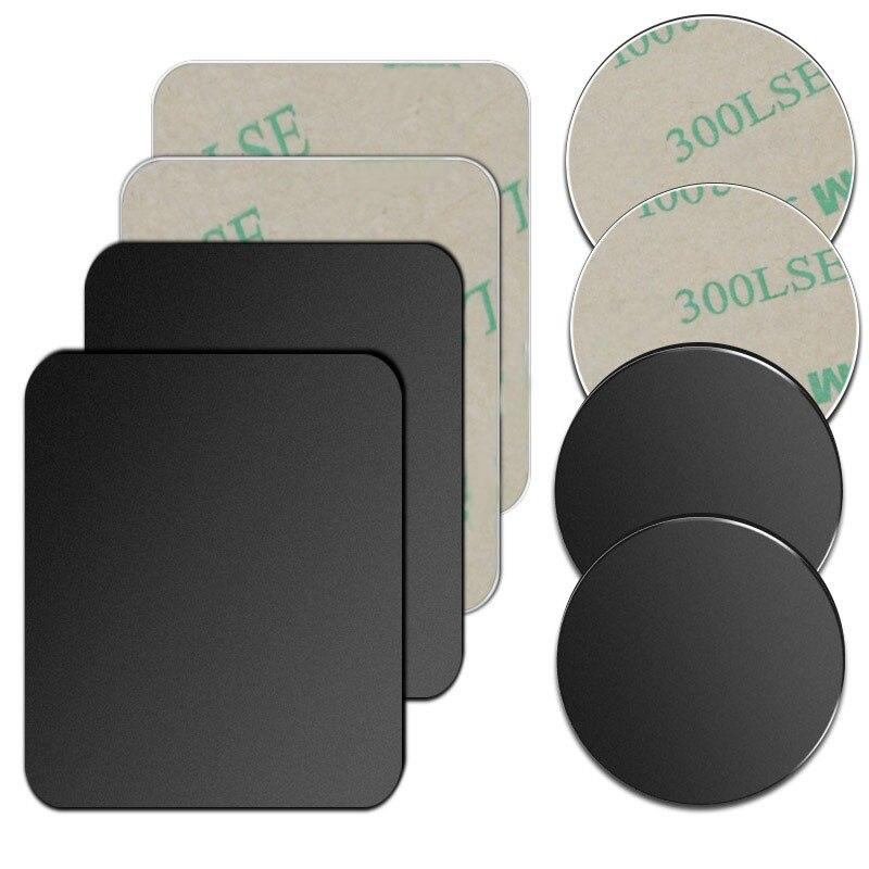 5 шт./1 шт./лот металлический пластинчатый диск для магнита Автомобильный держатель для телефона Железный клейкий лист для магнитного мобиль...