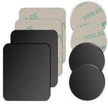 5 uds./1 ud./lote disco de placa de Metal para soporte de teléfono para coche con imán hoja de hierro pegatina para soporte magnético para teléfono móvil soporte de coche