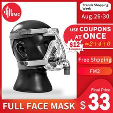BMC FM2 Full Face Mask 2018 Fashion Type For CPAP BIPAP Machine Size S/M/L Have Special Effects For Anti Snoring And Sleep Aid(China)