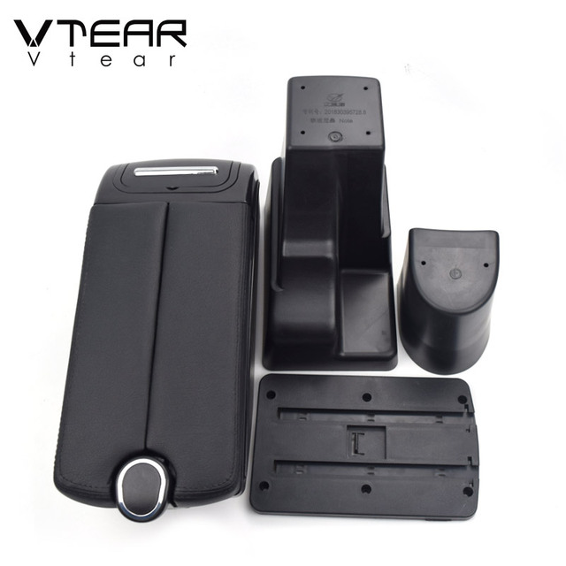Vtear For Nissan Note Armrest Interior Center Console Storage Box Arm Rest Car-styling Decoration Accessories Parts Organizer