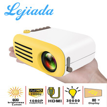 Lejiada YG200 Led Projetor 600 Lumen 3.5 Mm Audio 320X240 Pixels YG-300 Hdmi Usb Mini Projetor Casa Media speler()