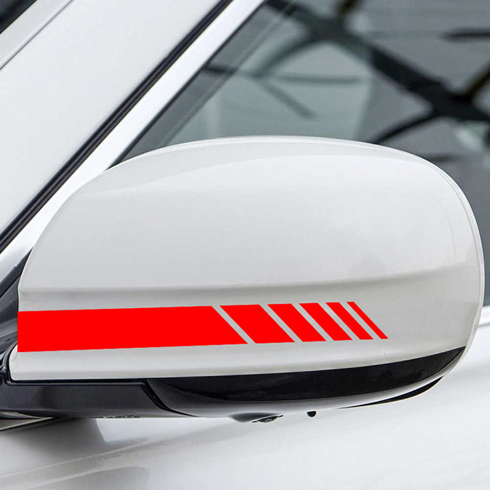 2pcs Sticker on Auto SUV Vinyl Graphic Car Sticker Rearview Mirror Side Decal Stripe DIY Car Body Decals Car Styling