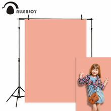 Allenjoy backdrop pastel peach pink texture pattern watercolor pure color photography background studio photophone vinyl