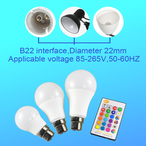 Image 5 - B22 Süngü RGB Led Ampul 5 W 10 W 15 W Kısılabilir 16 Renk Değiştirme Sihirli Aydınlatma Ampul AC 220 V 110 V RGB + Beyaz IR Uzaktan Lampada