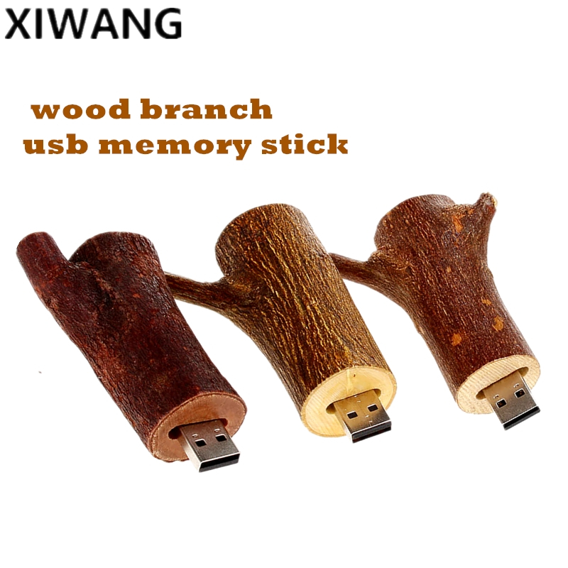 Image 4 - USB flash drive 128gb natural wood branch memory U Disk pendrive 8GB 2.0 pen drive 16GB 32GB 64GB tree branch Best Fashion Gift-in USB Flash Drives from Computer & Office