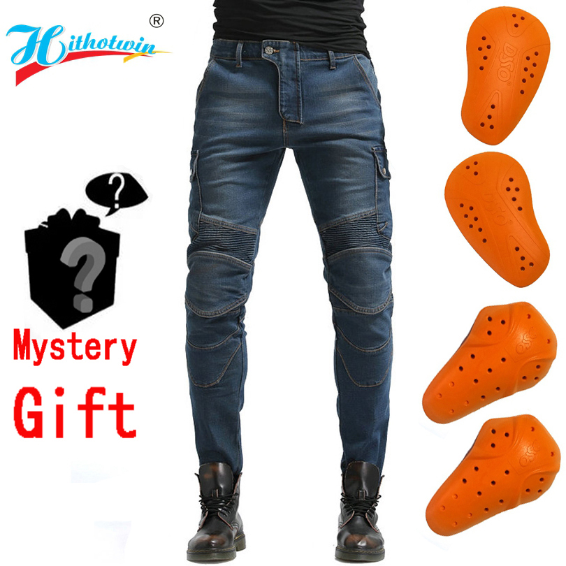 2020 Moto Pants Leisure Motorcycle Jeans Riding Trousers Off-road Motocross Riding Pants Zipper Design With Protection Hi-06