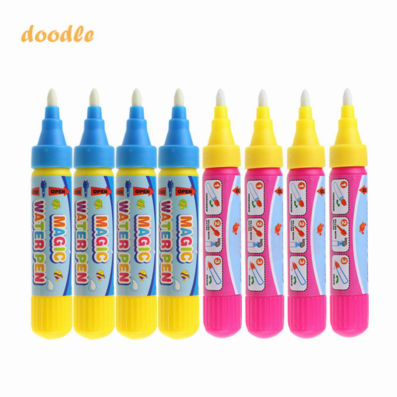 4pcs/set Magic Water Drawing Pen Toy Pen Kid Painting Water Writing Mat Pen Doodle Pens Replacement Tool Education Toy For Kids