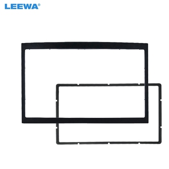 LEEWA Car Refitting Stereo DVD Frame Fascia Dash Panel Installation Kits For Peugeot 307 2DIN Radio Stereo Mounting image