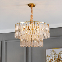 New design crystal chandelier is a luxurious golden LED chandelier for living room decoration