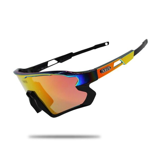 Óculos de sol preto photochromic ciclismo uv400 mtb bicicleta equitação tr90 esporte ao ar livre polarizado eyewear 1/5/6 lente 3