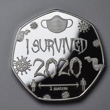 Commemorative-Coin Stamp Christmas-Gifts I Survived A-Seal of for Hard-Years