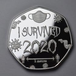 I SURVIVED 2020 Commemorative Coin Commemorative Stamp A Seal of Hard Years Home Decoration for Christmas Christmas Gifts