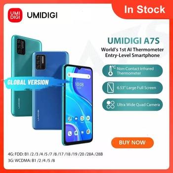 "In-Stock UMIDIGI A7S Smart Phone 6.53"" Screen 32GB 4150mAh Triple Camera Global Version Cellphone Infrared Temperature Sensor 1"