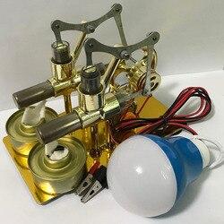 Motore di Bilanciamento Del Motore Stirling Modello Del Motore di Vapore di Calore Istruzione Fai Da Te Modello di Mestiere Scoperta Alternatore Scuola Forniture Accessori