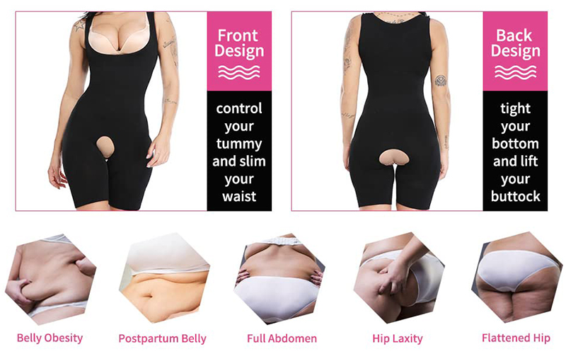 Seamless Tummy And Thighs Control Body Shaper