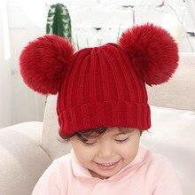 Детская зимняя шапка для девочек; теплая шапка; зимняя шапка; детская шапка; zimowe; enfant hiver bonnet enfant fille; шапка для девочек