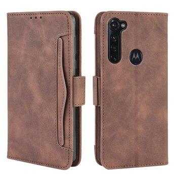 Перейти на Алиэкспресс и купить Чехол-книжка со съемным слотом для карт, чехол-кошелек для Motorola Moto G Pro, роскошный кожаный чехол для Motorola G Pro, противоударный чехол