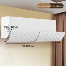 цена на Adjustable Air Conditioning Baffle Shield Telescopic Portable for Home Bedroom HVAC Systems & Parts TB Sale