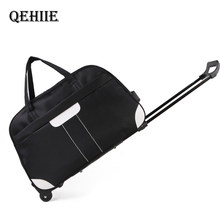Men Luggage Bag Waterproof Big Travel Bag Fashion Casual Thick Style Rolling Suitcase With Wheels Luggage For Women Men Students(China)