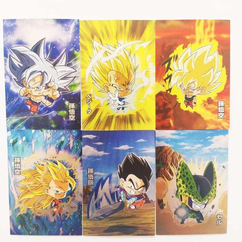 9pcs/set Dragon Ball Super Saiyan Goku Jiren Q Game Action Vegeta Figures Commemorative Edition Collection Cards Free Shipping