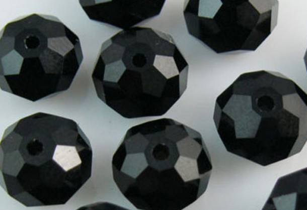 mix colored 3*4mm 1000pcs f4t3j Faceted Quartz Rondelle glass Beads Crackle Round Bead crystal