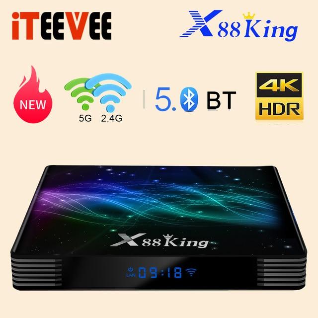 X88 King Android 9.0 Tv Box S922X Hexa Core Mali G52 MP6 LPDDR4 4Gb 128Gb Set Top Box dual Wifi Bluetooth 5.0 1000M Lan Speler