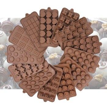 Molde de silicona para Chocolate para hornear herramienta no utensilios de cocina antiadherentes jalea Fondant 3D molde bricolaje herramientas de decoración de pasteles utensilios de cocina
