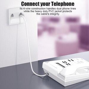 Image 5 - SAMZHE الهاتف تمديد الحبل سلك الهاتف مع 1 في خط مقرنة سلك كابل مع معيار RJ11 التوصيل