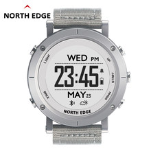 NORTHEDGE digital watches Men sports watch GPS heart rate Weather Altimeter Barometer Thermometer Compass hiking hours(China)