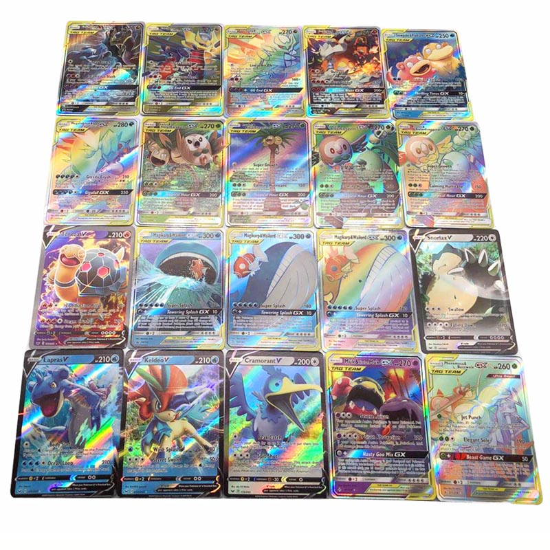 NEW 100PCS Pokemon Vmax Flash Card English Version POKEMON No Repetition Game Collection Cards Christmas Gift Toys