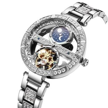 Woman Watch Ladies Clock Luxury Fashion Female Mechanical Watches Wristwatches Zegarek Damski reloj Dropshipping Waterproof