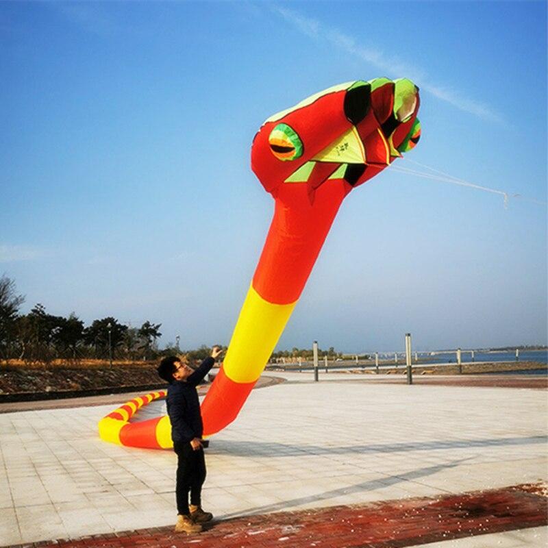2020 nouveau 3D tridimensionnel doux gonflable adulte 55m serpent cerf-volant grand Animal cerf-volant Sports de plein air outil de vol de haute qualité