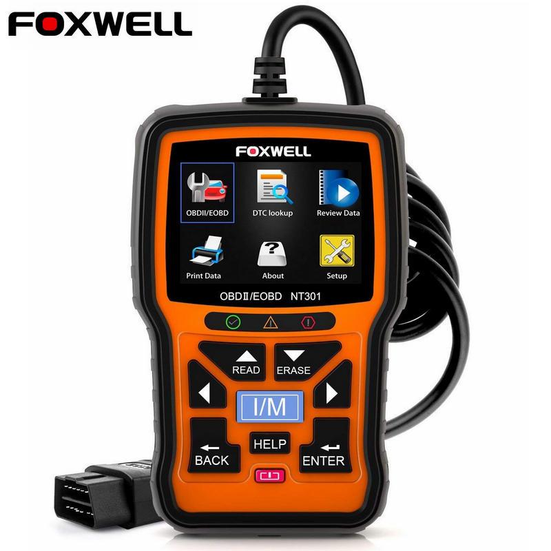 Foxwell NT301 OBD OBD2 Scanner Car Engine Code Reader Diagnostic Tool Multi languages Universal odb 2 Innrech Market.com