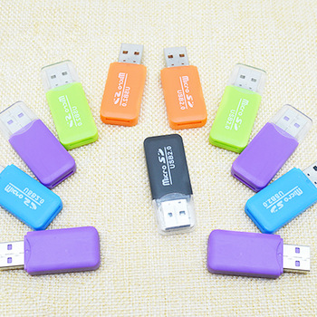 Di alta Qualità Mini USB 2.0 Card Reader Per Micro SD Card Carta di TF Card Adapter Plug And Play Colourful Scegliere Da per Tablet PC TXTB1 image