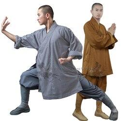 Bata budista Shaolin de algodón grueso, tipo monje Arhat, uniforme de kungfú, traje de meditación para artes marciales