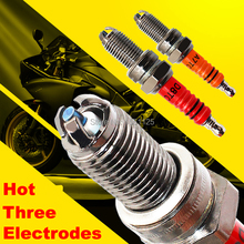 1pc 3電極スーパーD8TCオートバイスパークプラグD8TJC 125ccためDR8EA D8EA DR8EIX DPR8EA 9 DPR8EIX 9 IX24 X24ESR U HG22