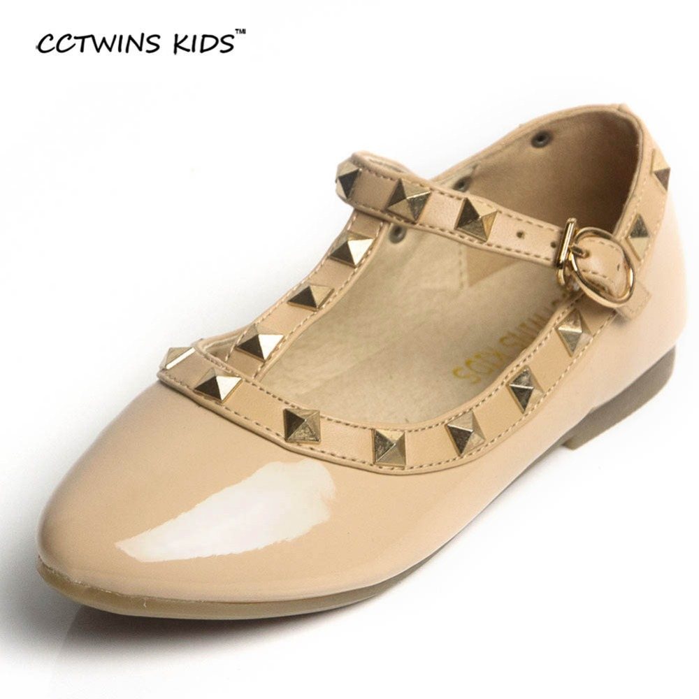 CCTWINS KIDS spring girls brand for baby stud shoes children nude sandal toddler summer shoe black white flats party shoe G358 2