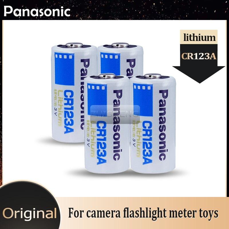 Литиевая батарея Panasonic CR123A, CR17345, CR123, 123A, 123, 3 в, 4 шт.
