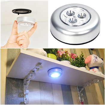 Mini 3LED Car Light Ceiling Nightlight Lamp Battery Powered Night Light Led Energy Saving Lamp Night Led Light Luminaria image
